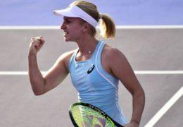Daria Gavrilova nearly hits ball boy with racket