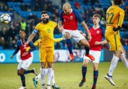 Norway 4 Australia 1: Kamara hat-trick spoils Van Marwijk's Socceroos debut