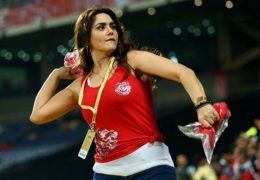 KXIP co-owner Preity Zinta spotted saying something unreal during CSK match
