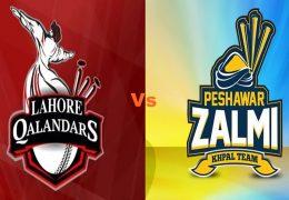 Peshawar Zalmi beat Lahore Qalandars by 7 wickets in PSL