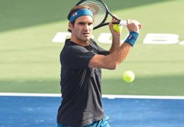 Roger Federer claims his 50th win in Dubai to reach quarter-finals