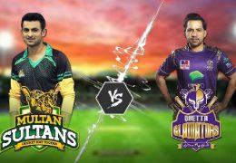 Quetta Gladiators beat Multan Sultans by 6 wickets in PSL 2019