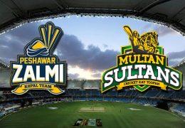 Peshawar Zalmi beat Multan Sultans by 5 wickets in PSL 2019