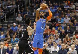 Second-half surge lifts Thunder past Nets, Warriors end Rockets' 9-game win streak
