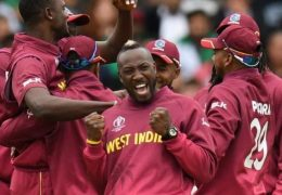 Pakistan bating line collapse all out at a mere 105 runs against West Indies