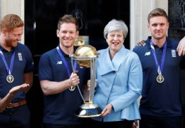 PM Theresa May hosts victorious England cricket team